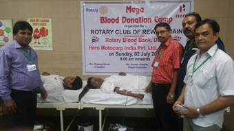 BLOOD DONATION CAMP AT HERO MOTOCORP LTD. NEEMRANA