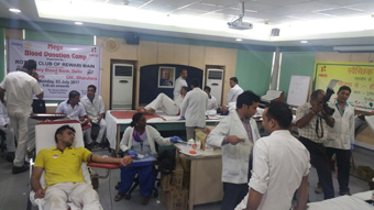 BLOOD DONATION CAMP AT HERO MOTOCORP LTD. DHARUHERA
