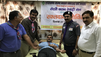 BLOOD DONATION CAMP AT CIVIL HOSPITAL, REWARI
