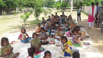 STATIONARY DISTRIBUTION TO NEEDY STUDENTS OF SNJJ SCHOOL