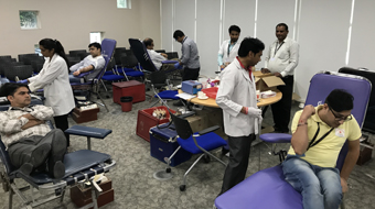 BLOOD DONATION CAMP AT KEYSIGHT TECHNOLOGIES, MANESAR
