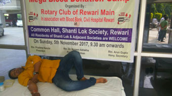 BLOOD DONATION CAMP AT SHANTI LOK SOCIETY