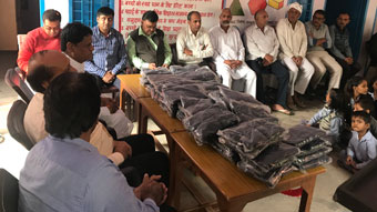 SWEATER DISTRIBUTION AND CAREER COUNCELLING SESSION AT GOVT. SR. SEC. SCHOOL, ASIAKI GORAWAS, REWARI