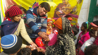 PULSE POLIO VACCINATION TO KIDS