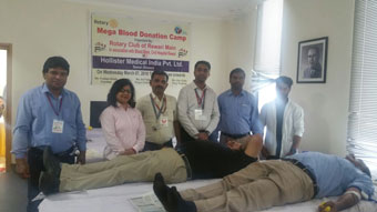 Mega Blood Donation Camp at Hollister Medical India Pvt. Ltd, Bawal.