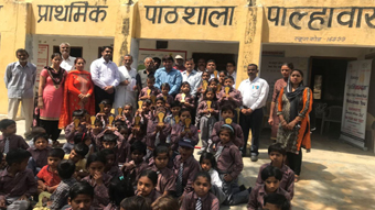 Award ceremony & facilitation of brilliant students of Govt. Primary School, Palhawas to promote & motivate them.