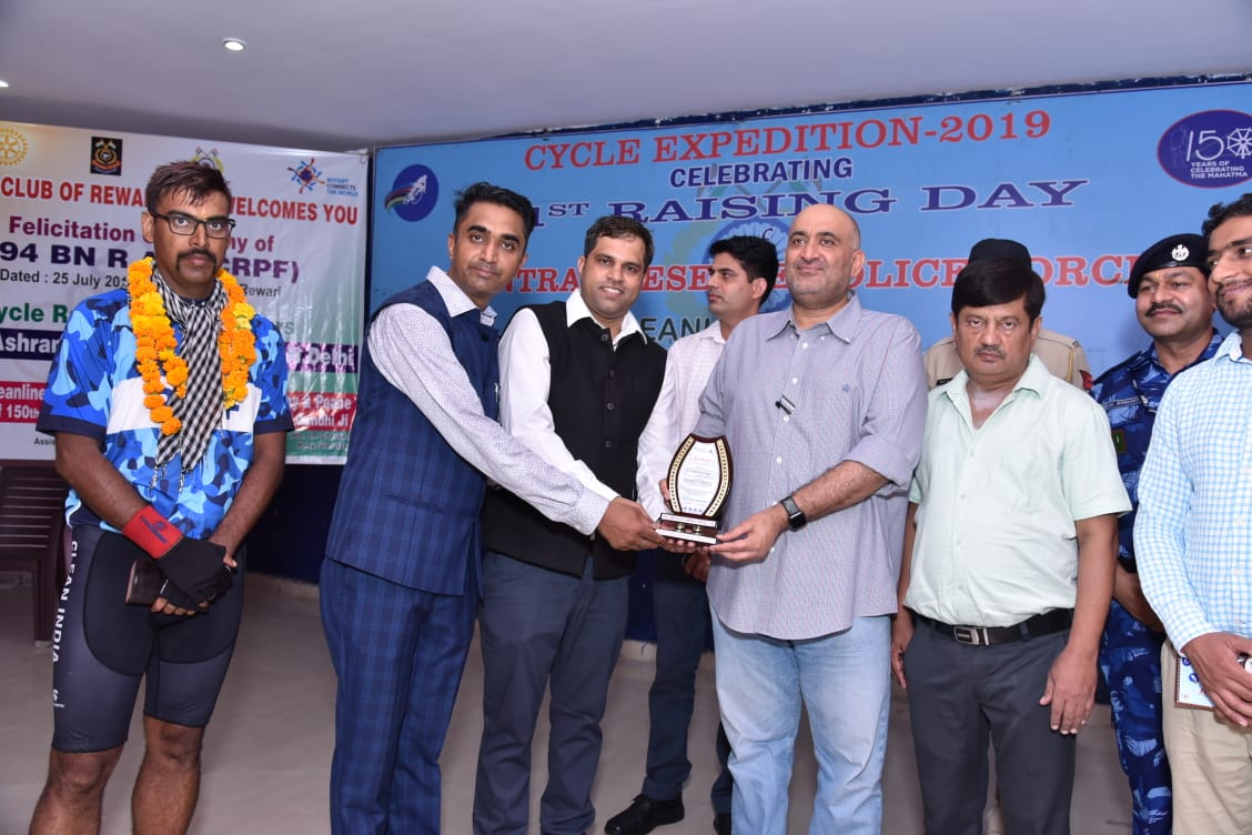 FELICITATION OF CRPF CYCLE RALLY