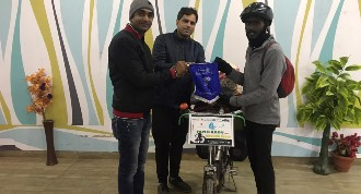 Felicitation of Rtr. Sundar Solo Cyclist