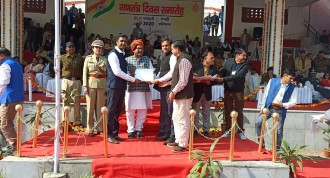 Appreciation award to Club from District Administration Rewari on Republic Day 2020